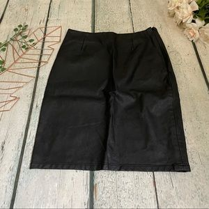 Olivaceous faux leather black skirt mini fall S